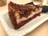 "Photo of Barbarella Arkade  by <a href=""/members/profile/AlasdairR"">AlasdairR</a> <br/>delicious cherry vegan cheesecake  <br/> July 30, 2017  - <a href='/contact/abuse/image/76084/286788'>Report</a>"
