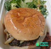 "Photo of Mooshies  by <a href=""/members/profile/robz"">robz</a> <br/>Black Bean and Quinoa burger <br/> September 2, 2016  - <a href='/contact/abuse/image/78723/173097'>Report</a>"