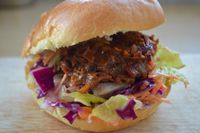 "Photo of Mooshies  by <a href=""/members/profile/MooshiesLondon"">MooshiesLondon</a> <br/>Our Pulled Mooshie Burger made from Jackfruit served on coleslaw with homemade BBQ sauce  <br/> September 19, 2016  - <a href='/contact/abuse/image/78723/176761'>Report</a>"