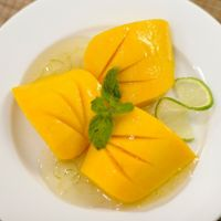 """Photo of La Pasta  by <a href=""""/members/profile/Cambobby"""">Cambobby</a> <br/>MANGO WITH LIME SYRUP Fresh flowered mango & Lyme syrup decorated with mint springs <br/> December 10, 2016  - <a href='/contact/abuse/image/83737/198834'>Report</a>"""