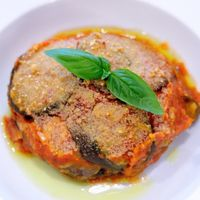 """Photo of La Pasta  by <a href=""""/members/profile/Cambobby"""">Cambobby</a> <br/>Vegan Parmigiana (Eggplant Parmesan) <br/> May 30, 2017  - <a href='/contact/abuse/image/83737/264125'>Report</a>"""