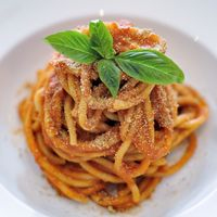 """Photo of La Pasta  by <a href=""""/members/profile/Cambobby"""">Cambobby</a> <br/>Spaghetti w/ Vegan Pink Sauce <br/> June 14, 2017  - <a href='/contact/abuse/image/83737/268981'>Report</a>"""