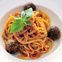 """Photo of La Pasta  by <a href=""""/members/profile/Cambobby"""">Cambobby</a> <br/>Spaghetti w/ Vegan Meatballs <br/> June 14, 2017  - <a href='/contact/abuse/image/83737/268985'>Report</a>"""