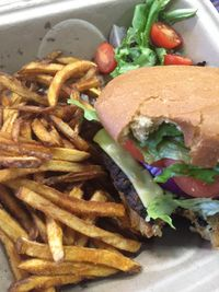 "Photo of Sanctuary Vegan Cafe  by <a href=""/members/profile/happycowgirl"">happycowgirl</a> <br/>Seitan Bacon Cheeseburger (vegan) <br/> September 5, 2017  - <a href='/contact/abuse/image/84135/301230'>Report</a>"