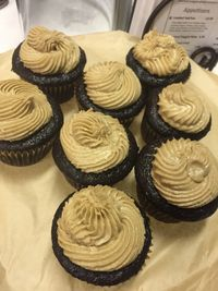 "Photo of Sanctuary Vegan Cafe  by <a href=""/members/profile/happycowgirl"">happycowgirl</a> <br/>vegan chocolate cupcakes with caramel icing  <br/> September 5, 2017  - <a href='/contact/abuse/image/84135/301237'>Report</a>"