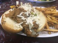 "Photo of Sanctuary Vegan Cafe  by <a href=""/members/profile/AlexandraPhillips"">AlexandraPhillips</a> <br/>Philly cheesesteak <br/> December 29, 2017  - <a href='/contact/abuse/image/84135/340277'>Report</a>"