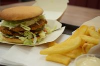 """Photo of Istvanffi Veggie Burger - Downtown  by <a href=""""/members/profile/Muscha"""">Muscha</a> <br/>Double Burger <br/> December 14, 2017  - <a href='/contact/abuse/image/91118/335414'>Report</a>"""