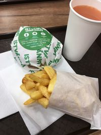 """Photo of Istvanffi Veggie Burger - Downtown  by <a href=""""/members/profile/mnap"""">mnap</a> <br/>Double burger with fries and grapefruit juice <br/> March 1, 2018  - <a href='/contact/abuse/image/91118/365521'>Report</a>"""