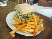 "Photo of Zenhouse Vegetarian Yum Cha   by <a href=""/members/profile/JanineBarthel"">JanineBarthel</a> <br/>delicious vegan burger with cheese and fries  <br/> March 3, 2016  - <a href='/contact/abuse/image/9275/138585'>Report</a>"