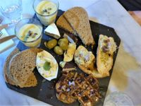 "Photo of Mr. & Mrs. Watson  by <a href=""/members/profile/v_mdj"">v_mdj</a> <br/>Starter for 2 persons with eggsalad, cheeze, eggplant waffles and aioli and soup <br/> December 17, 2017  - <a href='/contact/abuse/image/99503/336578'>Report</a>"