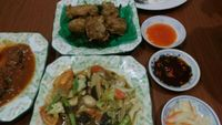 "Photo of Soe Pyi Swar Vegetarian Centre  by <a href=""/members/profile/Marionvegan"">Marionvegan</a> <br/>mock chicken and fish <br/> June 2, 2016  - <a href='/contact/abuse/image/9963/151876'>Report</a>"