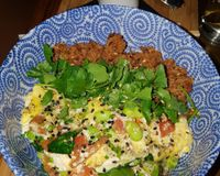 """Japanese vegan bowl <br/>                 <a href=""""/reviews/flax-and-kale-barcelona-109282"""">Flax & Kale - Sant Pere Més</a><br/> January 11, 2018"""