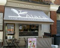 """cafe from outside<br/>                 <a href=""""/reviews/alara-health-store-london-11136"""">Alara Health Store</a><br/> October 4, 2016"""
