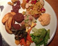"""Dinner plate from the buffet<br/>                 <a href=""""/reviews/tibits-london-15552"""">Tibits</a><br/> July 7, 2013"""