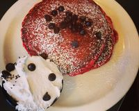 """red velvet pancakes<br/>                 <a href=""""/reviews/champs-diner-brooklyn-24286"""">Champs Diner</a><br/> January 1, 2014"""