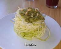 """Zucchini pesto pasta<br/>                 <a href=""""/reviews/alchemist-garden-restaurant-amsterdam-26197"""">Alchemist Garden</a><br/> June 5, 2013"""