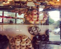 """Sunday donut case!<br/>                 <a href=""""/reviews/mighty-o-donuts-seattle-2830"""">Mighty-O Donuts - Greenlake</a><br/> September 15, 2013"""
