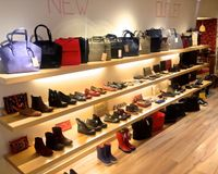 """View of one of the shoes and bags section<br/>                 <a href=""""/reviews/amapola-barcelona-32000"""">Amapola Vegan Shop</a><br/> March 11, 2015"""