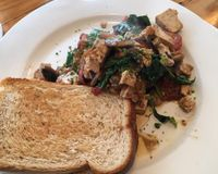 "Scrambled tofu <br/>                 <a href=""/reviews/sandy-feet-cafe-and-health-food-apollo-bay-36463"">Sandy Feet Cafe and Health Food</a><br/> September 25, 2014"