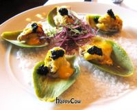 """Artichoke oysters<br/>                 <a href=""""/reviews/crossroads-kitchen-los-angeles-37466"""">Crossroads Kitchen</a><br/> May 3, 2013"""