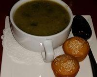 """bowl of spinach potato soup<br/>                 <a href=""""/reviews/a-votre-sante-west-los-angeles-3960"""">A Votre Sante</a><br/> September 30, 2016"""