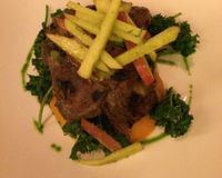 """Rosemary roasted seitan<br/>                 <a href=""""/reviews/candle-79-new-york-city-4849"""">Candle 79</a><br/> December 24, 2013"""