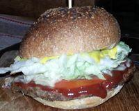 """tempeh burger<br/>                 <a href=""""/reviews/amrita-garden-chiang-mai-49074"""">Amrita Garden</a><br/> January 31, 2015"""