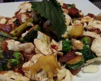"""sweet and spicy tempeh<br/>                 <a href=""""/reviews/au-lac-downtown-los-angeles-53843"""">Au Lac - DTLA</a><br/> December 21, 2014"""