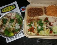 """Wow  VEGAN TACOS  These were all you hope they would be, when you hear #VeganTacos !! I ordered the 3 soft taco combo & the 3 street tacos so i could try all 6 of their """"Meat"""" options  All were good, i cant wait to try out the rest of the menu.  And now ive got another thing to look forward to in Vegas  Thanks much to @owl_and_anchor for the recommendation !! @PanchosVeganTacos #VeganMexicanFood #VeganVegas  #WhatDoYouEatThen<br/>                 <a href=""""/reviews/panchos-vegan-tacos-las-vegas-84771"""">Pancho's Vegan Tacos</a><br/> February 4, 2018"""