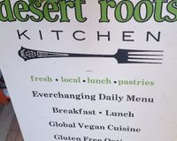 """the menu outside of Desert Roots Kitchen<br/>                 <a href=""""/reviews/desert-roots-kitchen-tempe-9333"""">Desert Roots Kitchen</a><br/> December 17, 2016"""