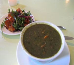 "Photo of Morgenstedet  by <a href=""/members/profile/CLRtraveller"">CLRtraveller</a> <br/>spinach-lentil soup and pumpkin salad <br/> January 25, 2012  - <a href='/contact/abuse/image/617/222013'>Report</a>"