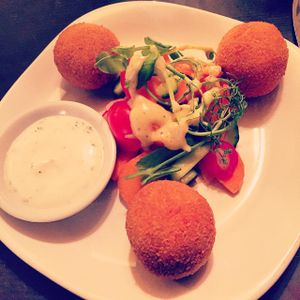 "Photo of manna cuisine  by <a href=""/members/profile/Fyeahsof"">Fyeahsof</a> <br/>basil cashew cheese croquettes <br/> January 29, 2015  - <a href='/contact/abuse/image/749/91651'>Report</a>"