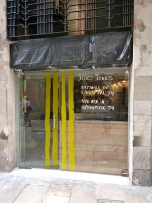 """Photo of CLOSED: Juicy Jones - Cardenal  by <a href=""""/members/profile/HappyMiller"""">HappyMiller</a> <br/>This location is closed, the other Juicy Jones listing is the new location <br/> April 23, 2014  - <a href='/contact/abuse/image/1108/68395'>Report</a>"""