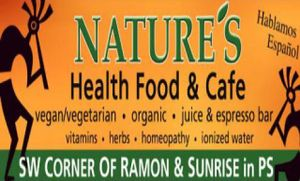 "Photo of Nature's Health Food and Cafe  by <a href=""/members/profile/Natures"">Natures</a> <br/>Our Logo <br/> November 11, 2011  - <a href='/contact/abuse/image/14021/193440'>Report</a>"