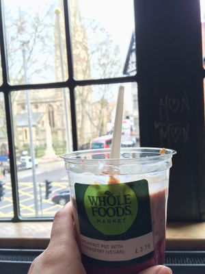 "Photo of Whole Foods Market - Kensington High St  by <a href=""/members/profile/DollyWiggles"">DollyWiggles</a> <br/>Breakfast with a lovely view! <br/> April 28, 2016  - <a href='/contact/abuse/image/14443/146592'>Report</a>"