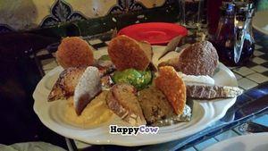 "Photo of Caravan of Dreams  by <a href=""/members/profile/tsmith6"">tsmith6</a> <br/>Caravan Sampler Tapas: Raw hummus, Arabian hummus, pesto, guacamole, smoked eggplant spread, House made herbed Cashew kefir and Ali-oli  <br/> November 23, 2013  - <a href='/contact/abuse/image/2261/58922'>Report</a>"