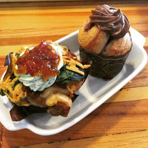"""Photo of Breads on Oak Cafe & Bakery  by <a href=""""/members/profile/comahony"""">comahony</a> <br/>Vegan cruffins, with house marinaded tempeh, 'cheese', herbs, pepper jam & more! <br/> June 4, 2015  - <a href='/contact/abuse/image/33055/104758'>Report</a>"""