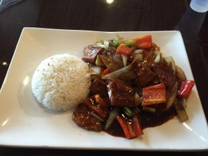 """Photo of CLOSED: Ovo - Simply Veggie  by <a href=""""/members/profile/kim2121"""">kim2121</a> <br/>Soy Protein and Ginger Soy Sauce - Tasty!  <br/> March 29, 2015  - <a href='/contact/abuse/image/36259/97313'>Report</a>"""