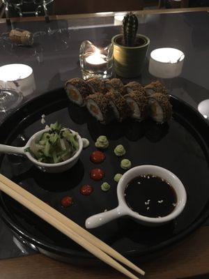 """Photo of Etnosvet  by <a href=""""/members/profile/Frijoles"""">Frijoles</a> <br/>fried sushi (vegan) <br/> September 1, 2017  - <a href='/contact/abuse/image/63181/299791'>Report</a>"""