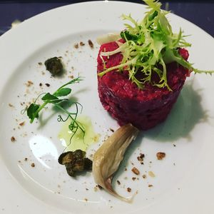 """Photo of Etnosvet  by <a href=""""/members/profile/Aj88"""">Aj88</a> <br/>First course on the tasting menu  <br/> December 6, 2017  - <a href='/contact/abuse/image/63181/332885'>Report</a>"""
